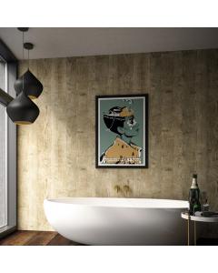 Bushboard Nuance Granite Wildwood Bathroom Wall Panel - Tongue & Groove - 600mm