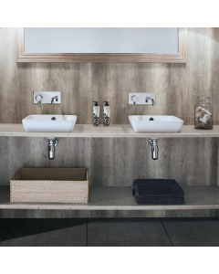 Bushboard Nuance Granite Driftwood Bathroom Wall Panel - Postformed - 1200mm