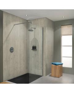 Bushboard Nuance Riven Chalkwood Bathroom Wall Panel - Tongue & Groove - 600mm