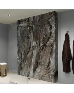 Bushboard Nuance Glaze Grey Paladina Bathroom Wall Panel - Postformed - 1200mm