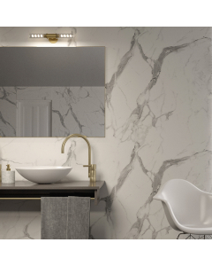Bushboard Nuance Glaze Calacatta Statuario Bathroom Wall Panel - Finishing Bathroom Wall Panel - 160mm
