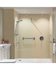 Bushboard Nuance Riven Classic Travertine Bathroom Wall Panel - Finishing Bathroom Wall Panel - 160mm