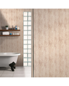 SplashPanel PVC Travertine Gloss Wall Panel - 1000mm