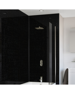 SplashPanel PVC Black Crystal Gloss Wall Panel - 1200mm