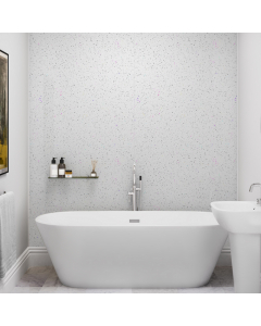 SplashPanel PVC White Crystal Gloss Wall Panel - 1200mm