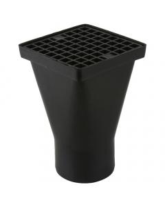 Brett Martin 110mm Underground Drainage Square Hopper - Black