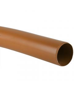 Brett Martin 110mm Underground Drainage Plain End Pipe - 3 Metre