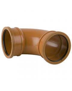 Brett Martin 110mm Underground Drainage 87.5 Degree Double Socket Bend