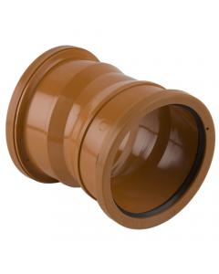 Brett Martin 110mm Underground Drainage Double Socket 11.25 Degree Bend