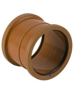 Brett Martin 110mm Underground Drainage Double Socket Slip Coupler