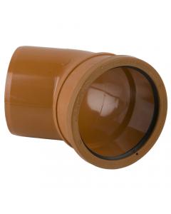 Brett Martin 110mm Underground Drainage Single Socket 45 Degree Bend