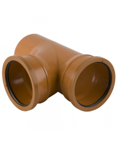 Brett Martin 110mm Underground Drainage Double Socket 87.5 Degree Branch