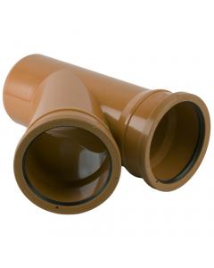 Brett Martin 110mm Underground Drainage Double Socket 45 Degree Branch