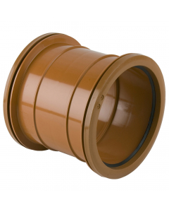 Brett Martin 160mm Underground Drainage Double Socket Coupler