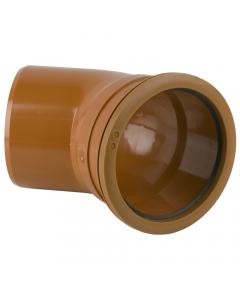 Brett Martin 160mm Underground Drainage Single Socket 45 Degree Bend