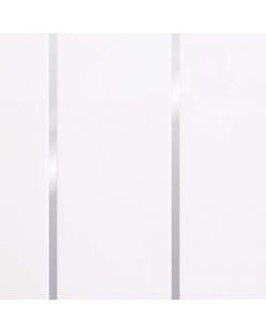 Basix PVC White Silver Embedded High Gloss Wall Panel - 2700mm x 200mm x 7.5mm (4 Pack)