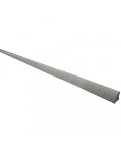 Mr Plastic 9mm Quadrant Window Plastic Trim - 2.4 Metre - Silver