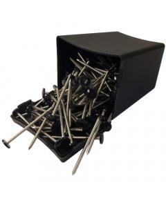Plastops Plastic Headed Nails - 65mm - Black (100 Pack)