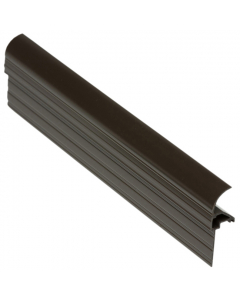 Exitex Capex Snap Down Bar End Finish Profile - 3 Metre - Brown