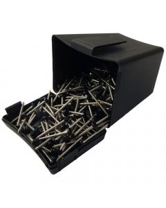 Plastops Plastic Headed Pins - 30mm - Black (200 Pack)