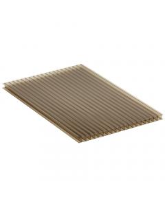 Mr Plastic Multiwall Polycarbonate Sheet - 10mm - 2.5 Metre x 600mm - Bronze