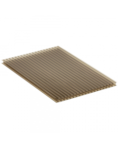 Mr Plastic Multiwall Polycarbonate Sheet - 10mm - 3 Metre x 600mm - Bronze