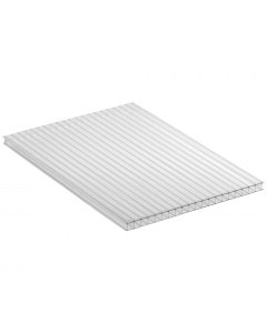 Mr Plastic Multiwall Polycarbonate Sheet - 10mm - 2.5 Metre x 600mm - Clear