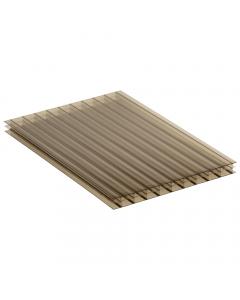 Mr Plastic Multiwall Polycarbonate Sheet - 16mm - 2.5 Metre x 600mm - Bronze