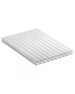 Mr Plastic Multiwall Polycarbonate Sheet - 16mm - 4 Metre x 1200mm - Clear