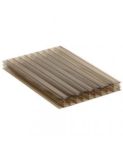 Mr Plastic Multiwall Polycarbonate Sheet - 25mm - 2.5 Metre x 1200mm - Bronze