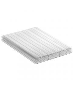 Mr Plastic Multiwall Polycarbonate Sheet - 25mm - 2.5 Metre x 1200mm - Clear