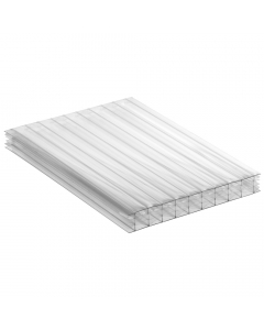 Mr Plastic Multiwall Polycarbonate Sheet - 25mm - 2.5 Metre x 800mm - Clear