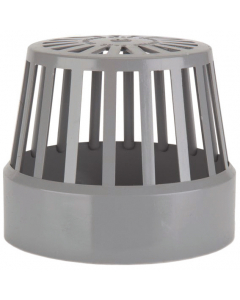 Polypipe 160mm Push Fit Soil Vent Terminal - Grey