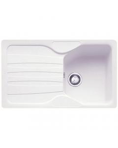 Tuscan Empoli Granite Inset Sink - 1 Bowl - Polar White