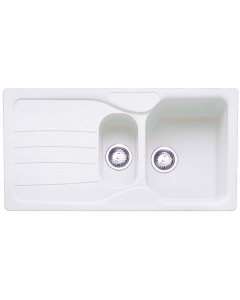 Tuscan Empoli Granite Inset Sink - 1.5 Bowl - Polar White