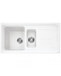 Tuscan Maranella Granite Inset Sink - 1.5 Bowl - Polar White