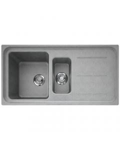 Tuscan Maranella Granite Inset Sink - 1.5 Bowl - Stone Grey