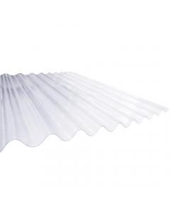 "Mr Plastic 8 ft x 3"" Corrugated Plastic Roofing Sheet - 2440mm x 762mm"