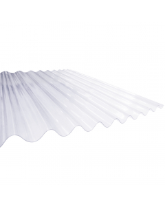 "Mr Plastic 7 ft x 6"" Corrugated Plastic Roofing Sheet - 2135mm x 762mm"