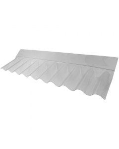 "Mr Plastic 3"" Corrugated Roofing Sheet Wall Flashing - 225mm x 704mm x 65mm"