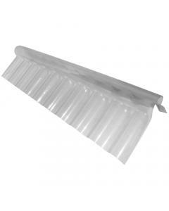"Mr Plastic 3"" Corrugated Roofing Sheet Ridge Flashing - 280mm x 695mm x 125mm"