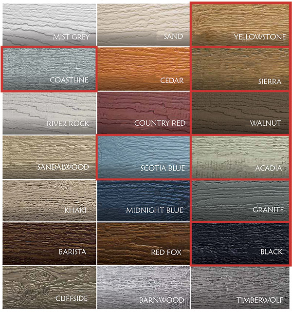 CanExcel Cladding Colours