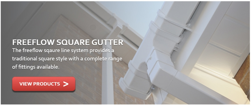 Freeflow Square Gutter
