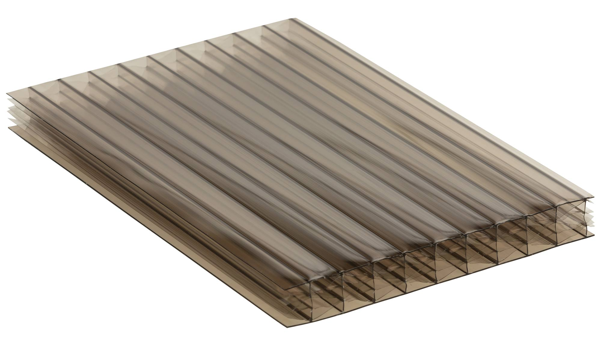 Bronze Tint Polycarbonate Multiwall Roofing Sheets
